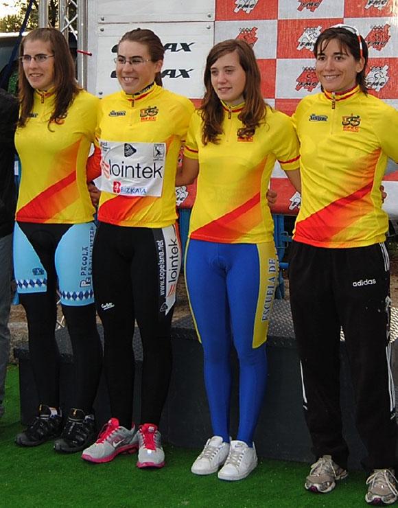 Pódium final de la Copa de España féminas 2011