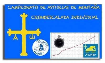 CTO. de Asturias de Cronoescalada individual 2014