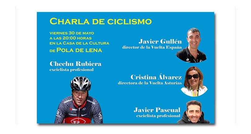 Charla de ciclismo en Pola de Lena el próximo viernes