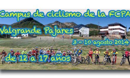 Campus juvenil de ciclismo de la FCPA