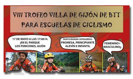 VIII trofeo Villa de Gijón de BTT para escuelas de ciclismo