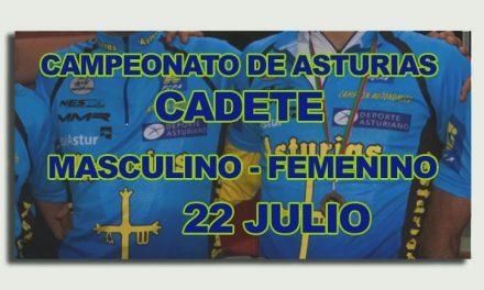 Cambio de fecha para el CTO. de Asturias cadete