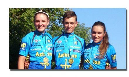 Laura, Candela y Brun Campeones de Asturias