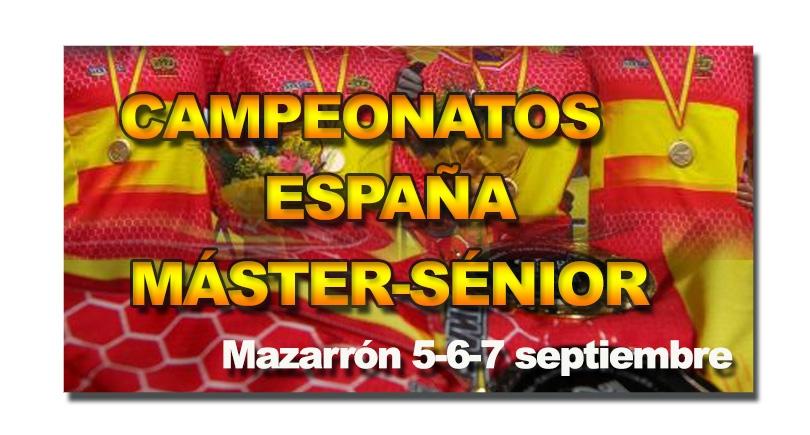 Preinscripción Campeonato de España máster – sénior