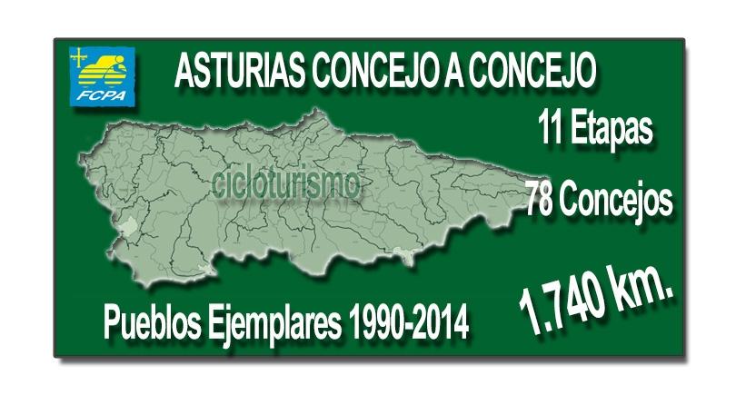 Asturias concejo a concejo, 11 etapas, 1.740 km. de cicloturismo
