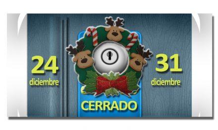 La FCPA cerrará los próximos días 24 y 31 de diciembre