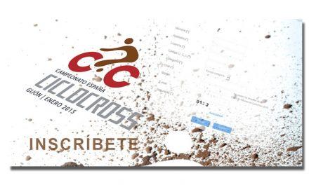 Inscripciones Campeonato de España de Ciclocross 2015