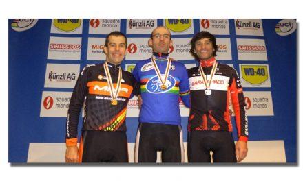 Bruno Prieto Campeón del Mundo máster  35-39. Marco y Cástor bronce