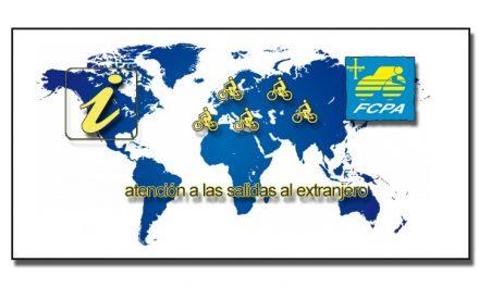 Atención a las salidas al extranjero