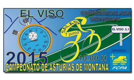 Subida al Viso, Campeonato de Asturias de montaña. Horarios y orden de salida