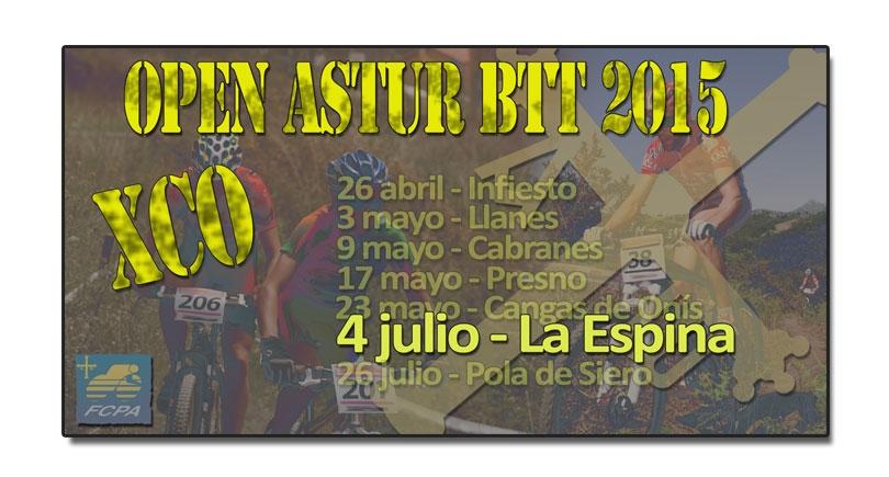 BTT La Espina 2015, se reanuda el Open Astur BTT