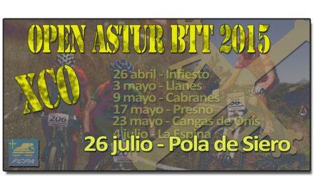 """El Open Astur BTT 2015 finaliza con el IX Open BTT """"El Carmín"""" Pola de Siero"""