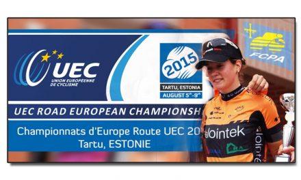 Alicia González con la selección en el Europeo de Tartu, Estonia