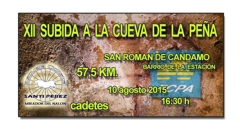 XII Subida ciclista a La Cueva de La Peña para cadetes
