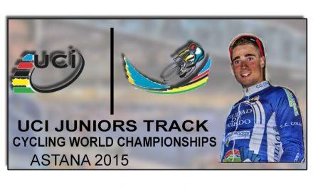 Dani Viejo al mundial junior de Pista de Astana