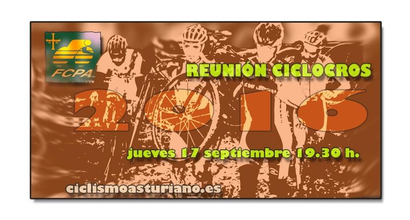 Reunión de clubs para la temporada de ciclocross 2016
