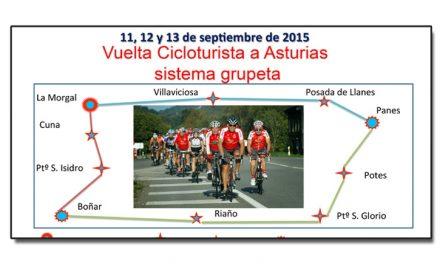 Vuelta cicloturista a Asturias. 11-13 septiembre de 2015