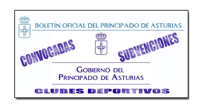 Subvenciones clubes deportivos del Principado