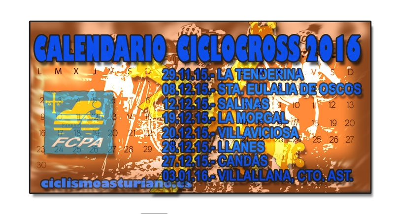 Calendario asturiano de ciclocross 2016