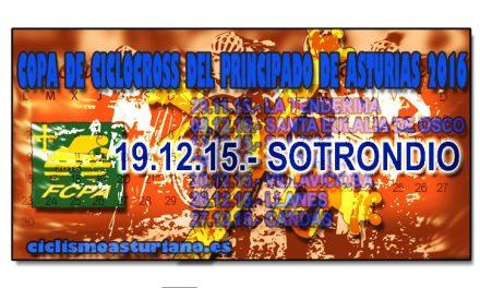 """Trofeo Federación """"Sotrondio 2015"""". Copa de CX del Principado"""