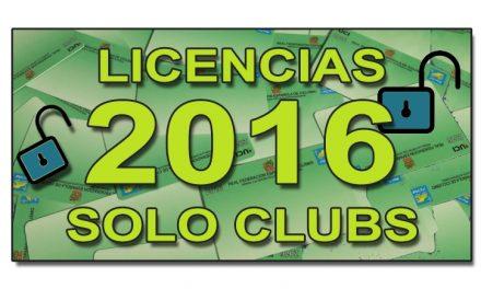 Abiertas las licencias 2016 para clubs y equipos