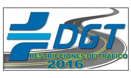 Medidas de regulación de tráfico para el 2016