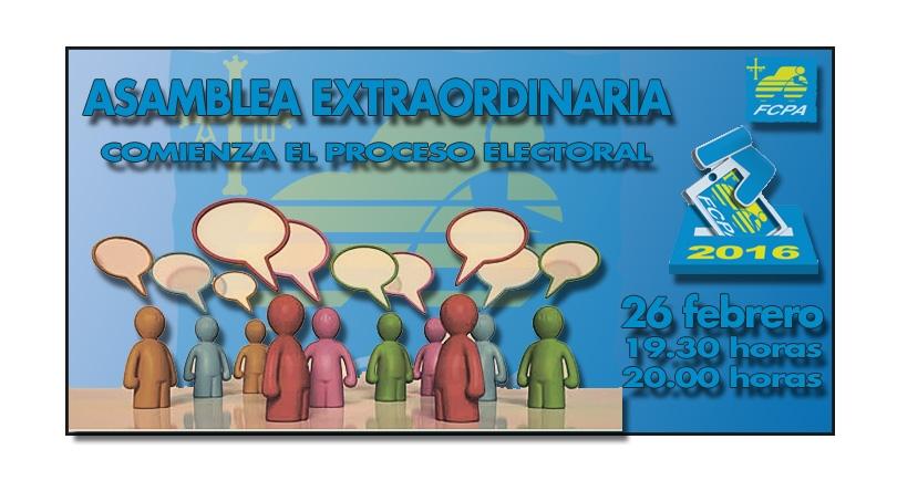 Comienza el proceso electoral de la FCPA. Se convoca Asamblea Extraordinaria.