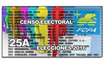 15 Febrero 2016 último día para formar parte del censo electoral