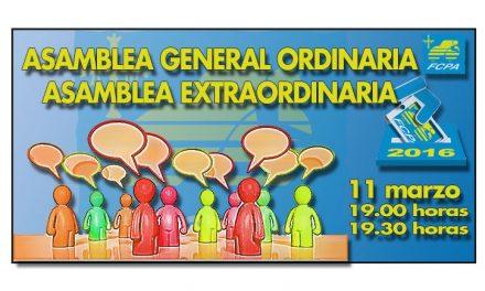 Próximo 11 de marzo Asamblea General Ordinaria y Asamblea Extraordinaria
