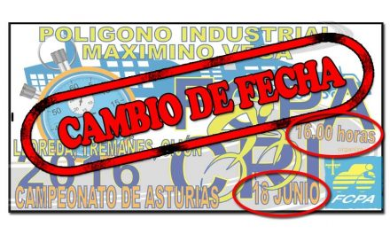 Cambio de fecha Campeonato de Asturias C. R. I. de Gijón