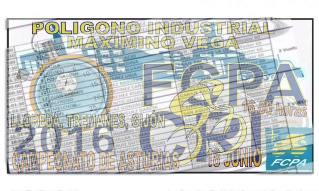 Horario y orden de salida del Campeonato de Asturias C. R. I. 2016