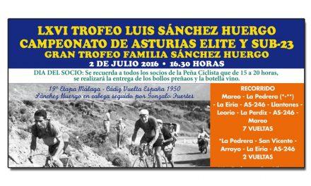LXVI Trofeo Luis Sánchez Huergo, Campeonato de Asturias élite y sub23