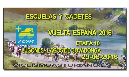 El ciclismo base asturiano con la Vuelta España