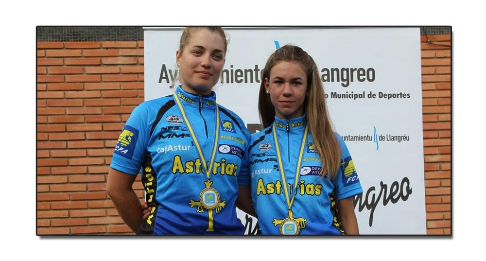 María Del Llano y Cintia Sariego Campeonas de Asturias