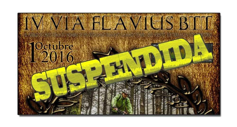 SUSPENDIDA – IV Vía Flavius BTT, Salas 1 octubre 2016