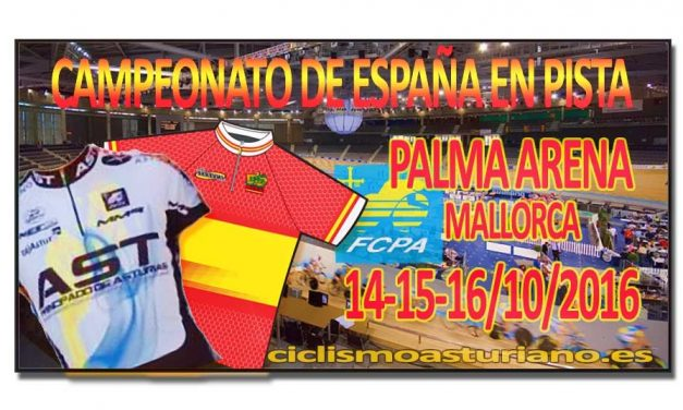 Siete seleccionados para el nacional de pista en Mallorca