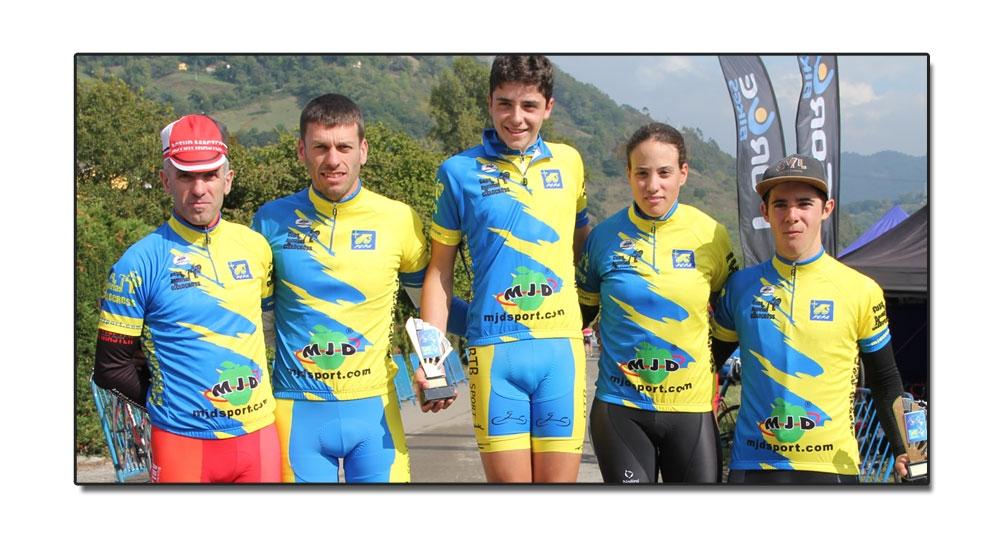 Primeros líderes de la Copa de Asturias de ciclocross
