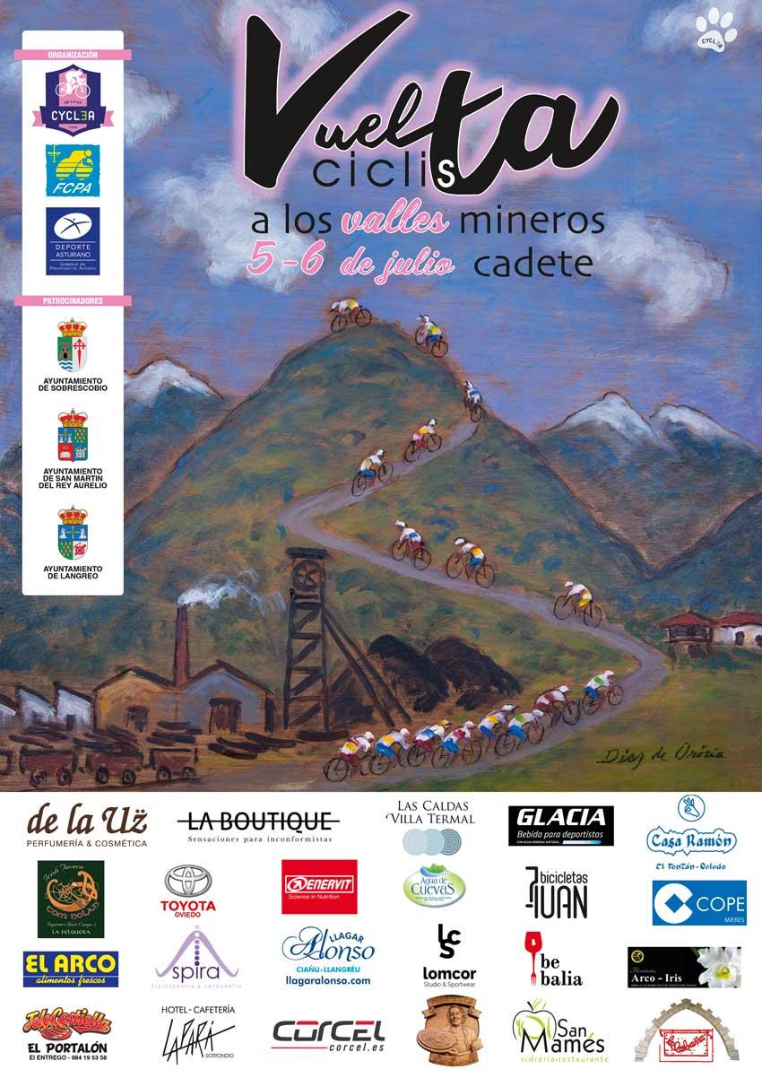 Cartel de la Vuelta Ciclista a los Valles Mineros