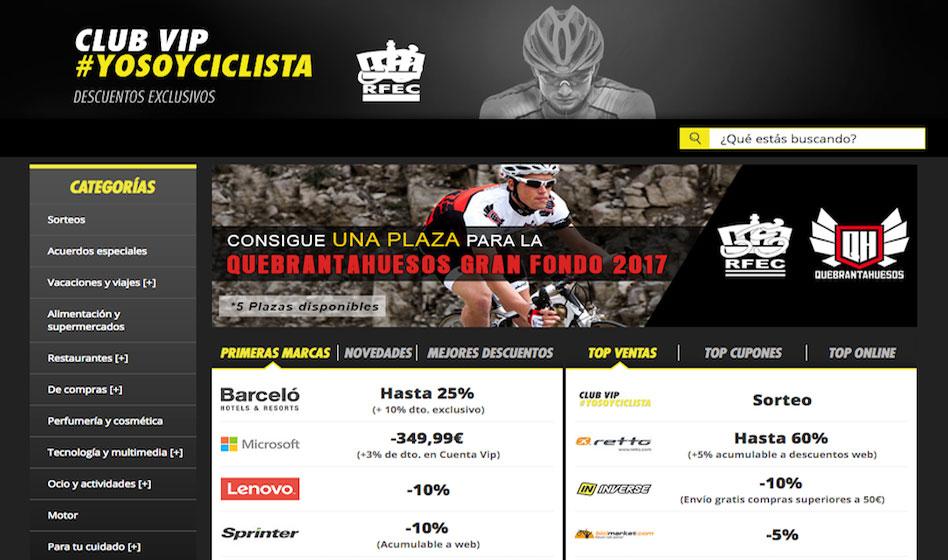 Sorteos y descuentos en Club Vip Ciclista