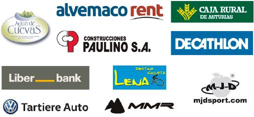 Logotipos de los colaboradores de la Federación de Ciclismo del Principado de Asturias