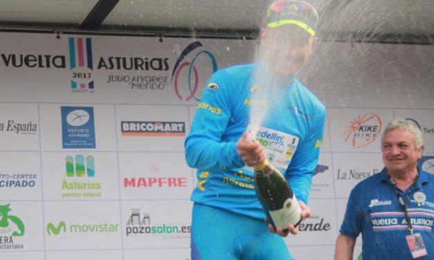 Weimar Roldán lidera la Vuelta Ciclista a Asturias tras imponerse en Pola de Lena