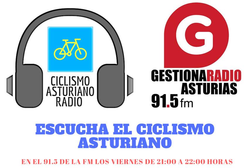 Logotipo Ciclismo Asturiano Radio y Gestiona Radio Asturias