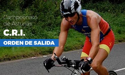 Orden de salida del Campeonato de Asturias de CRI en línea