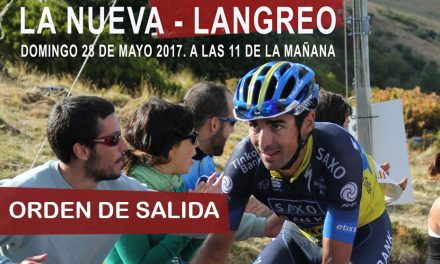 Orden de salida del Campeonato de Asturias CRI de Montaña