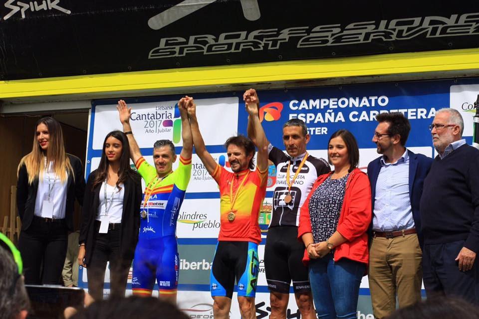 Tres medallas en el Campeonato de España Máster