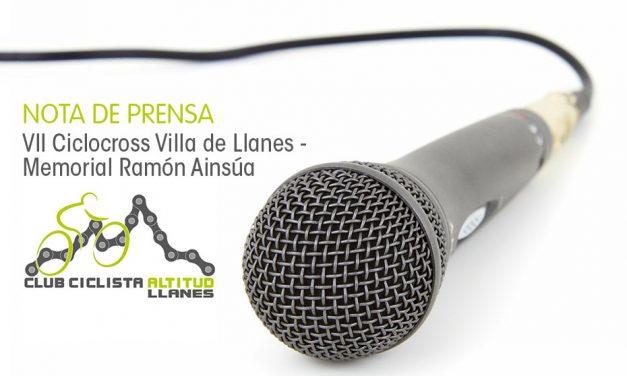 Información sobre el VII Ciclocross Villa de Llanes – Memorial Ramón Ainsúa