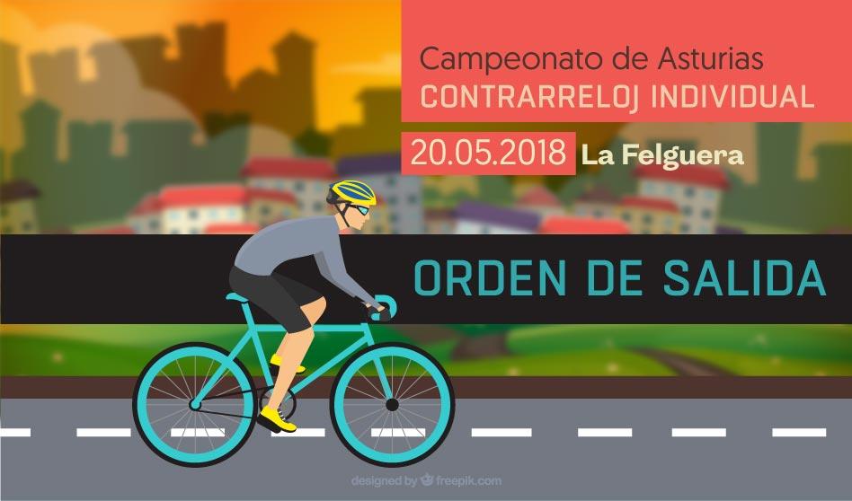 Orden de salida para el Campeonato de Asturias C.R.I.