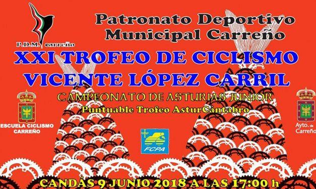 Se acerca el XXI Trofeo Vicente López Carril: información e inscripciones