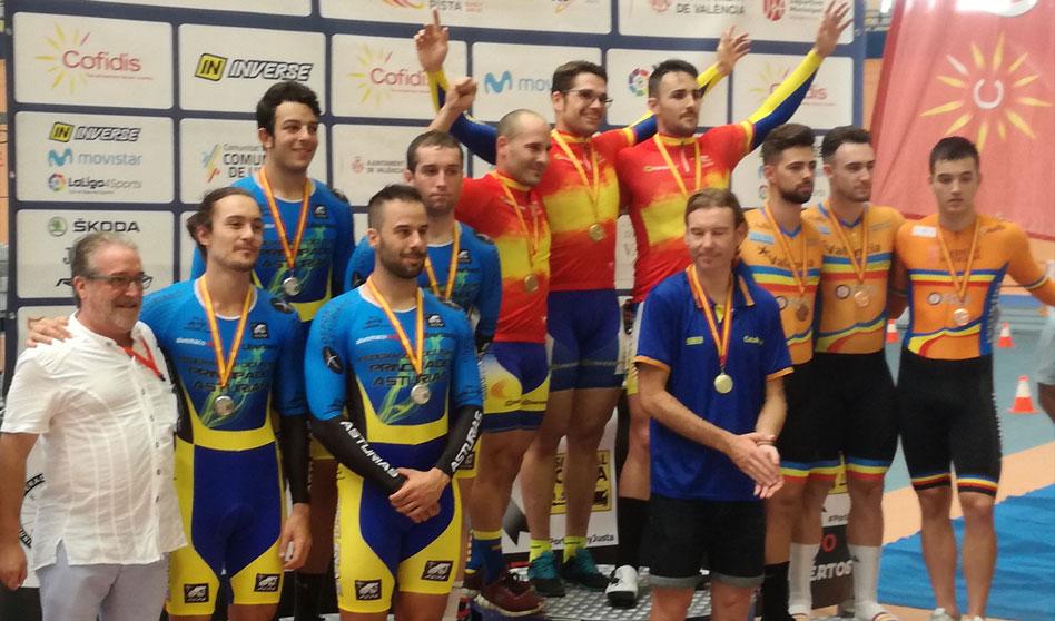 Asturias con los mejores en el Campeonato de España de Pista Élite