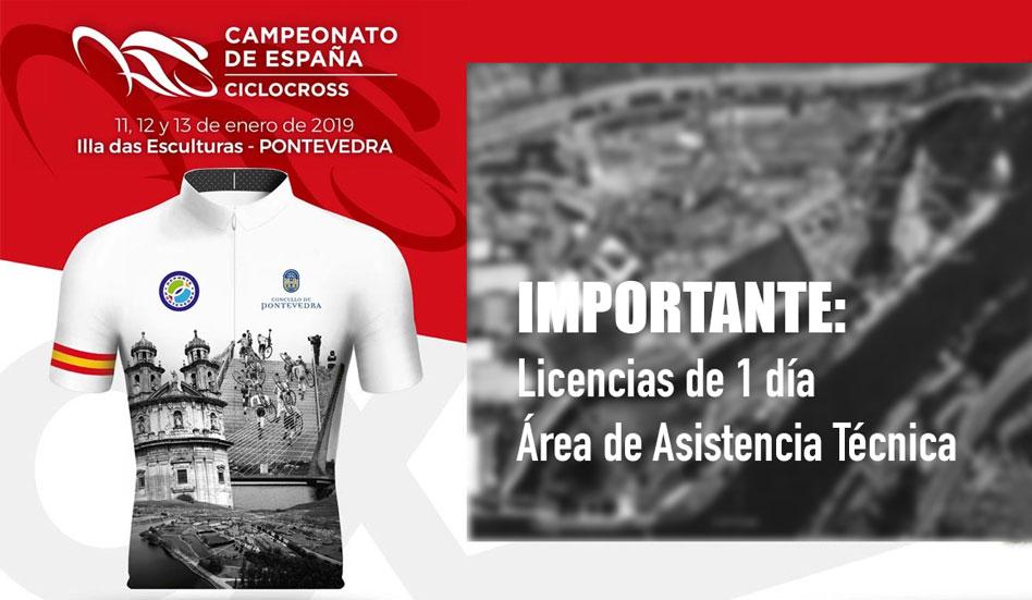 Campeonatos de España de Ciclocross 2019: Licencias de 1 día Área Asistencia Técnica